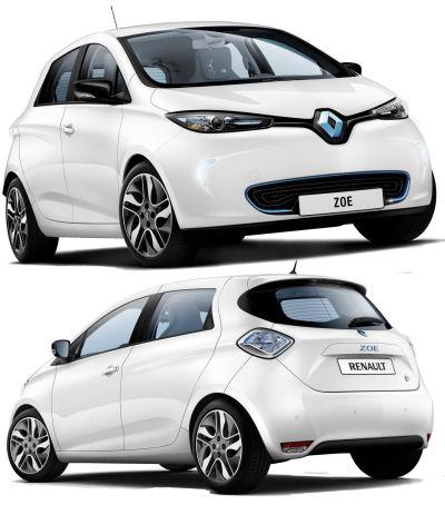 En 2012, Renault dévoile les lignes définitives de son véhicule zéro émissions (ZEV) le plus important: la Renault Zoe, modèle unique, inédit, non repris d'un autre véhicule (comme la Fluence ZE par exemple)..